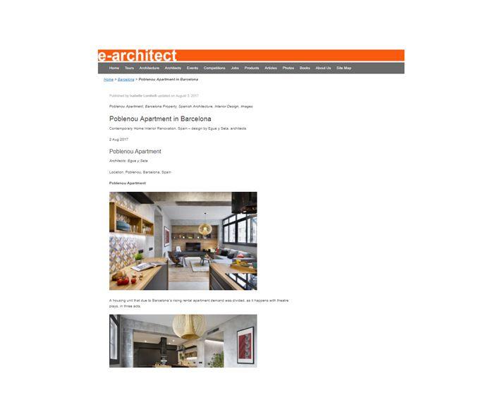 e-architect poblenou en 3 actos