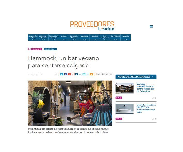 proveedores hosteltur Hammock